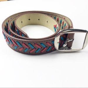 🌿 Boho Vegan Leather Belt
